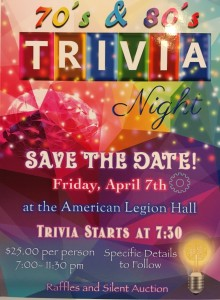 Whittier Spring Fundraiser: 70s & 80s Trivia Night @ American Legion Hall | Downers Grove | Illinois | United States